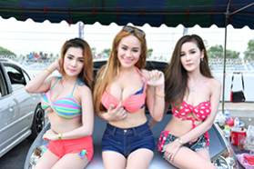 Pathumthani ES Club Drag Day 'Sexy Car Wash'(pretty):2016年5月